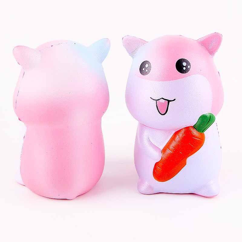 Hamster 12cm*7cm 65g pu squishy kawaii jumbo slow rising Squishy decompression charm squeeze toy