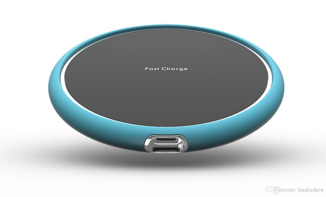 Wireless Fast Charger With Smart DesignDark Gray/Red/Blue/Purple/Cyan