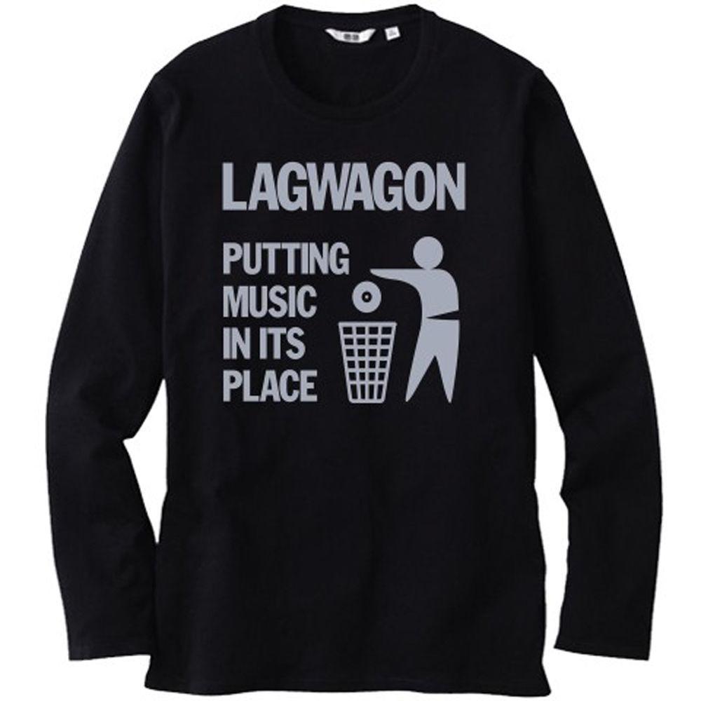 sélection premium 51190 0e8e0 LAGWAGON Mettre la musique à sa place Tee shirt Homme Noir à manches  longues Taille S-3XL