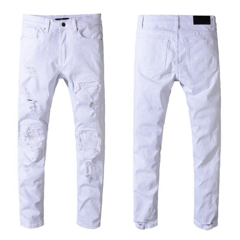 b9c181a74e Compre Pantalones Vaqueros Para Hombre 2018 Primavera Y Verano Nuevo Patrón Hombre  Pantalones Vaqueros Coreanos Agujeros De Autocultivo Juvenil Tendencia ...