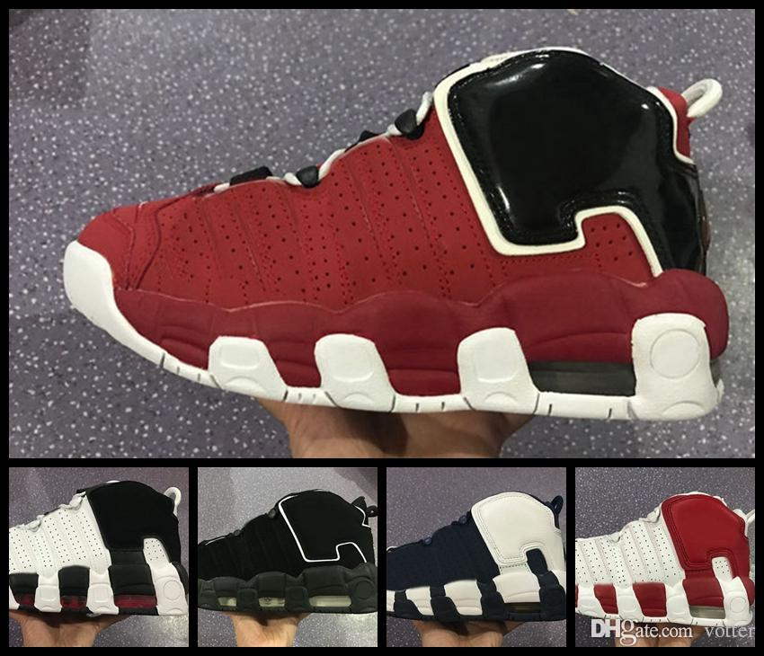 official photos f7387 39201 2018 Cheap Air More Uptempo Men Women Classic Sneakers Oreo Winter Olympic  Scottie Pippen Athletic Sports Shoes White Black For Sale Youth Basketball  Shoes ...