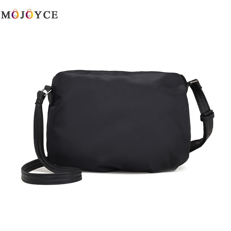 7e67a6d53145 Women Zipper Sling Shoulder Pouch Bags Nylon Solid Color Messenger Handbag  Female Casual Black Dark Blue Crossbody Bags Relic Purses Fashion Bags From  ...