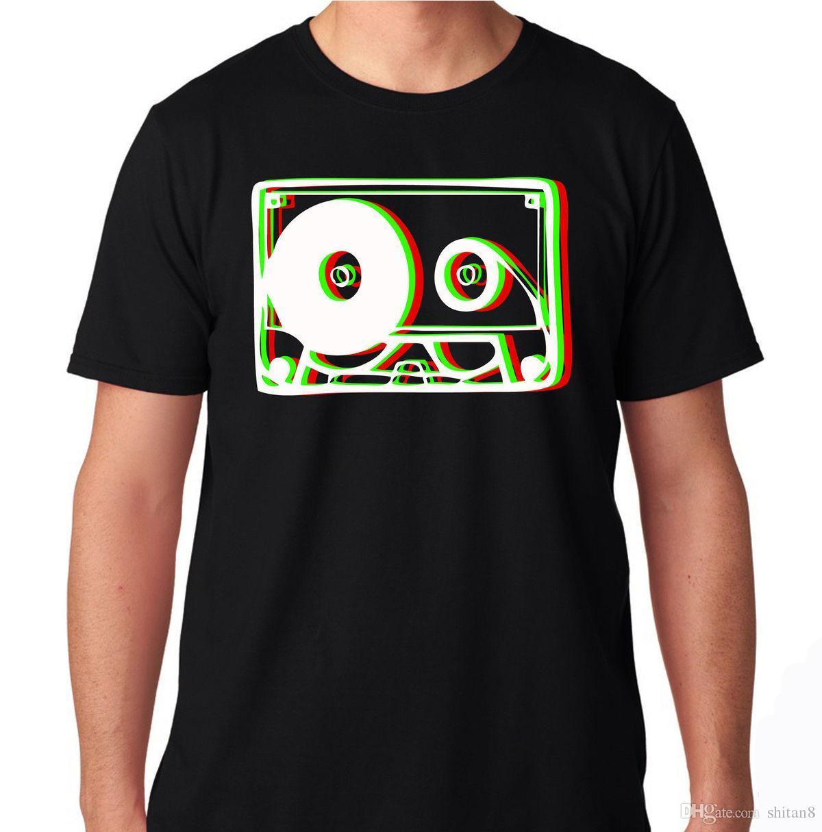 CASSETTE DIMENSION HIP HOP RAP HARDFEST PLUR DJ TRAP CONCERT RAVE MUSIC T  SHIRT Men T-Shirt Great Quality Funny Man Cotton