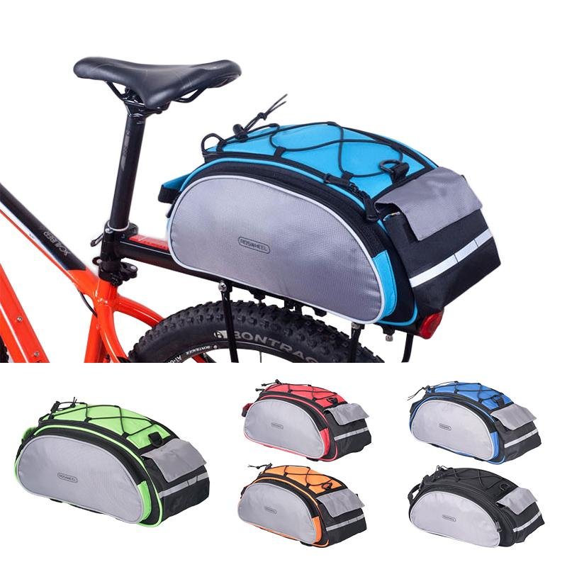 The Best Splashproof Bicycle Back Seat Bag Road Bike Rack Back Rear Seat Tail Carrier Trunk Pouch Handbag With Light Black Pannier Bags Moderate Cost Bicycle Accessories Bicycle Bags & Panniers