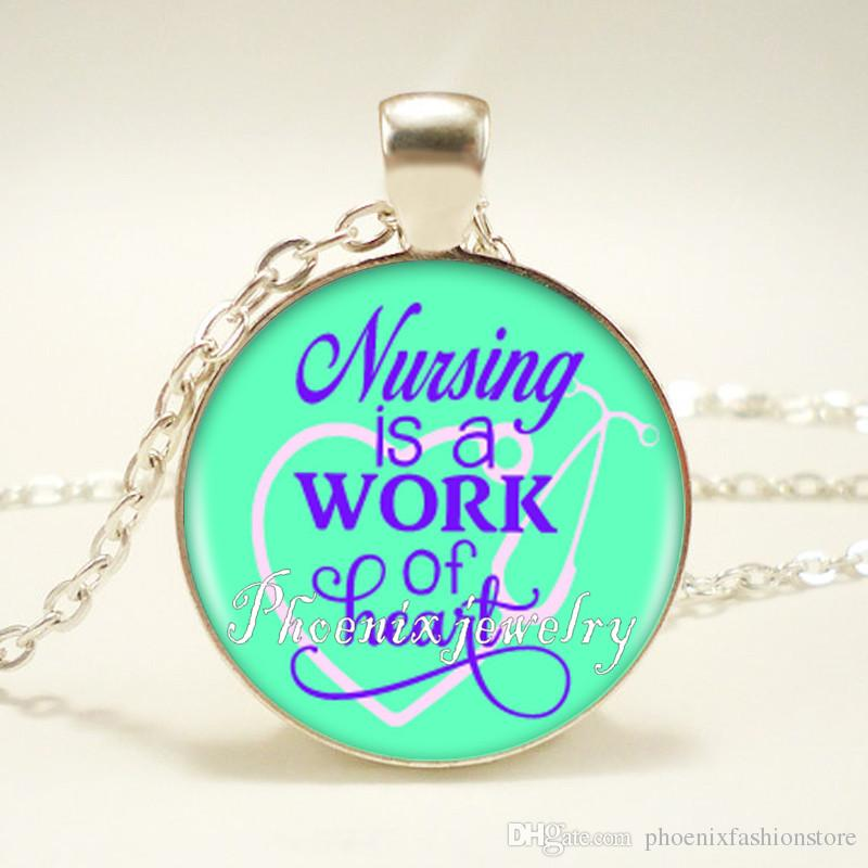 Bless Your Heart Smile Sparkle Shire 10 Style Quote Pendant Necklace Long Chian Statement Handmade Fashion Necklace Jewelry