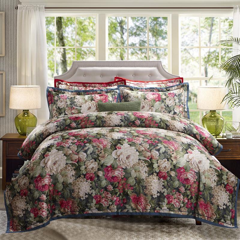 Grosshandel Luxus Jacquard Baumwolle Bettwasche Blau Rot Rosa Silber