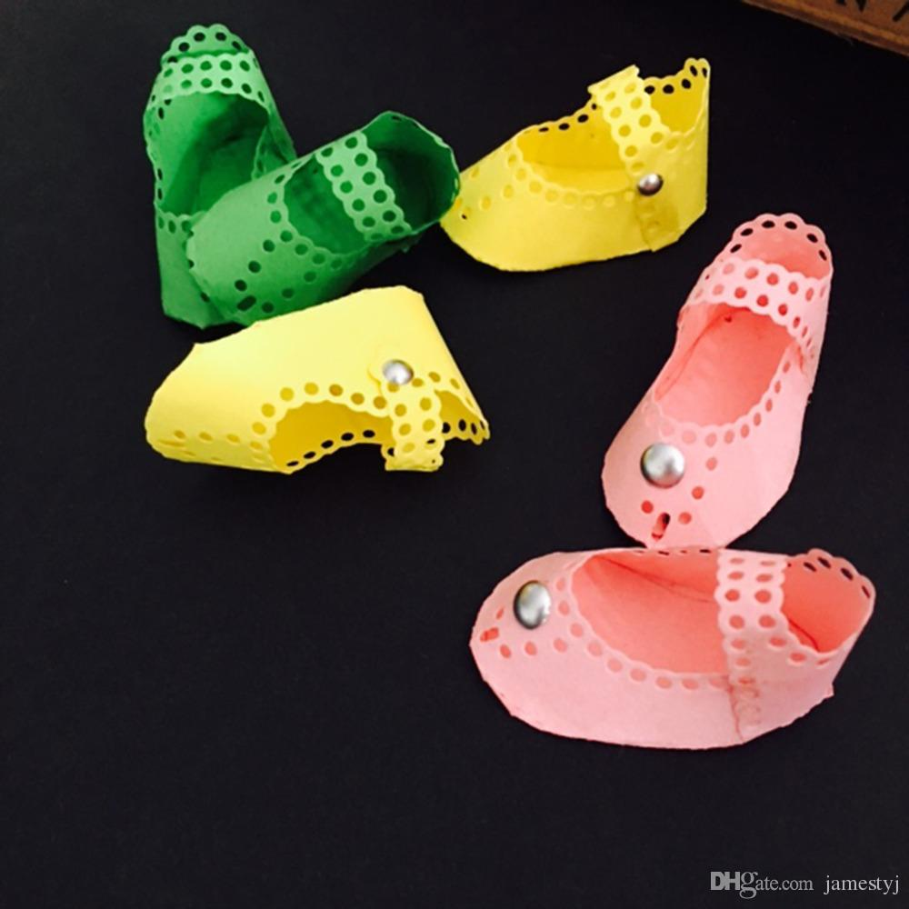 2019 Cutting Dies 3d Baby Shoes For Cards Scrapbooking And Paper