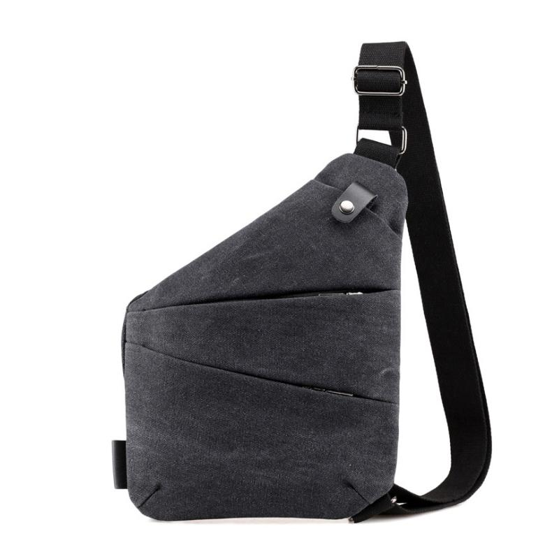 216851928d0 New Fashion Men Bag Sling Casual Canvas Chest Bag Simple Single Shoulder  For Men Anti Theft Crossbody BagsBlack Bags For Women Cheap Designer Bags  From ...