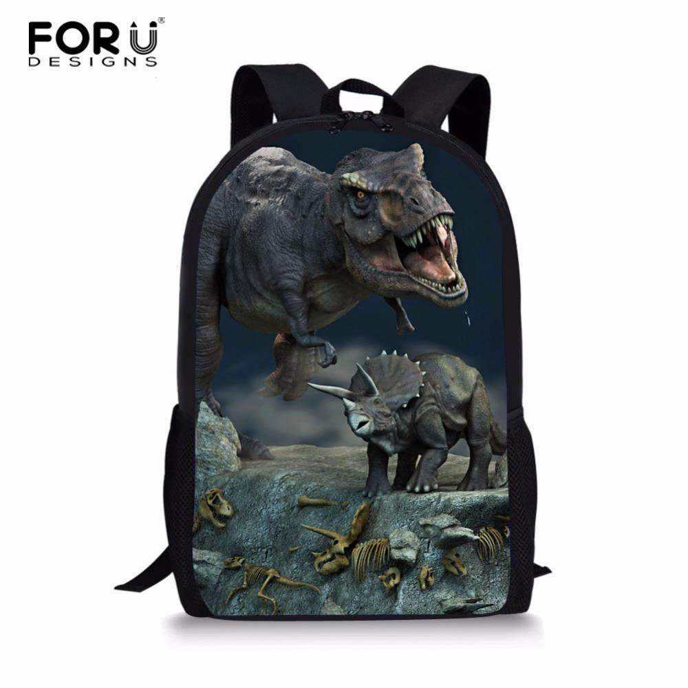 FORUDESIGNS 3D Jurassic World Dinosaur Backpack 16 Inch School Bags For  Teenagers Boy Travel Bag Children Book Bags Small Backpacks Vintage Rucksack  From ... 31c219bd542fb