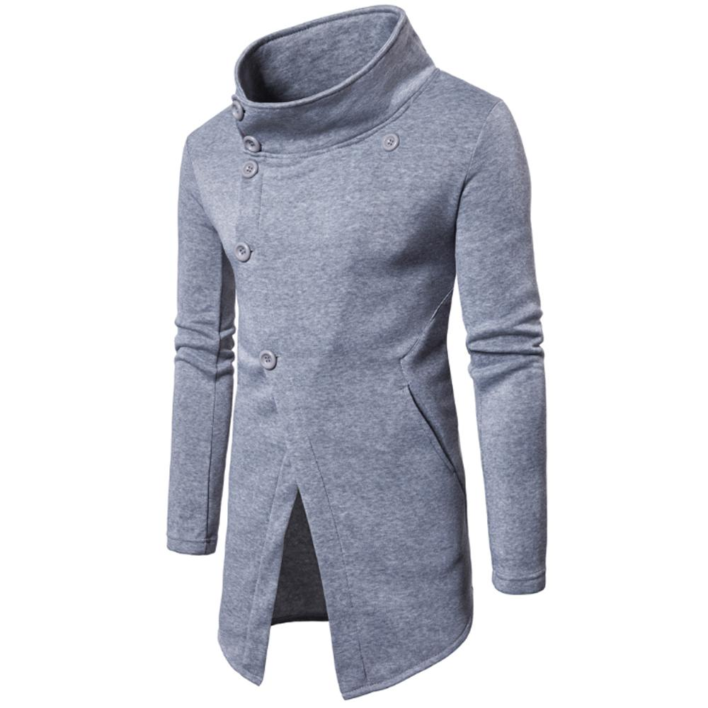 Hooded Sweater Cardigan Long Stick Men'S Fashion Sweater Coat Inclined  Buckle Outerwear Jacket Mens Jakets Mens Fall Coats From Cinda02, $49.98|  DHgate.Com