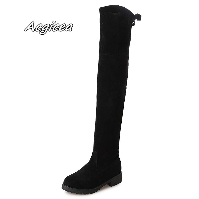 25a11dcd0d6 2018 Winter Women S Warm And Comfortable Shallow Mouth Boots Wild Fashion  New Solid Color Round Head Martin Boots T10 Wedge Boots Waterproof Boots  From ...