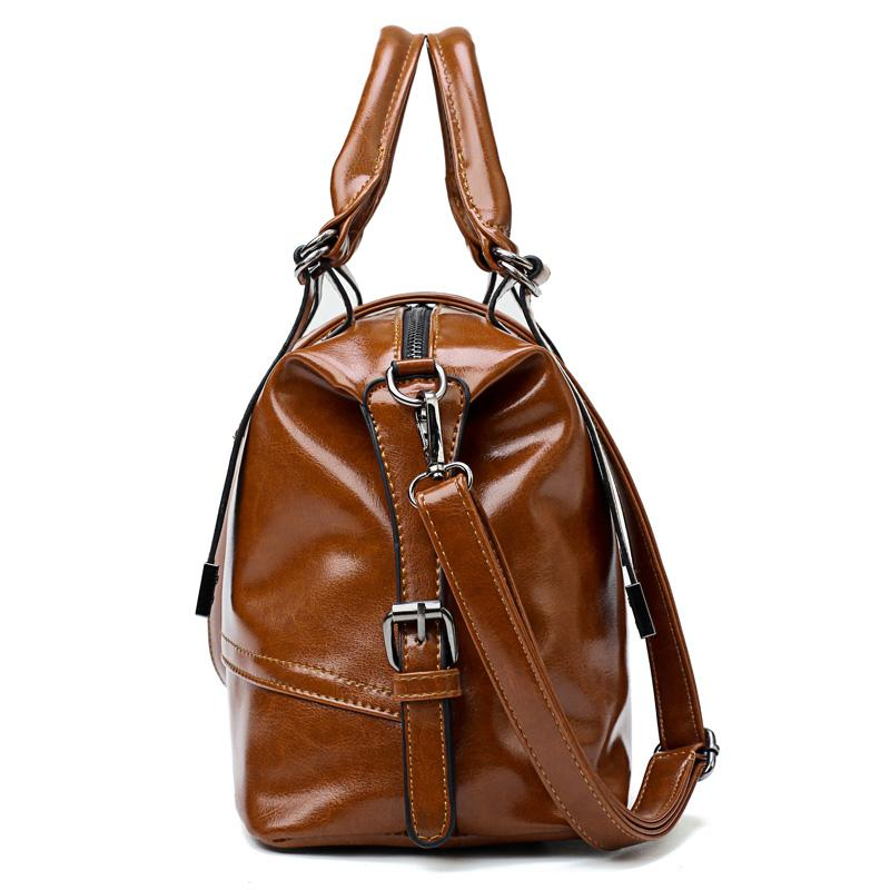 5543f2d3d14b Luggage Bags Handbags Vintage Bag Oil Wax Pu Women S Leather Handbags  Luxury Designer High Quality Tote Bag Women Shoulder Bags Ladies Reusable  Grocery Bags ...