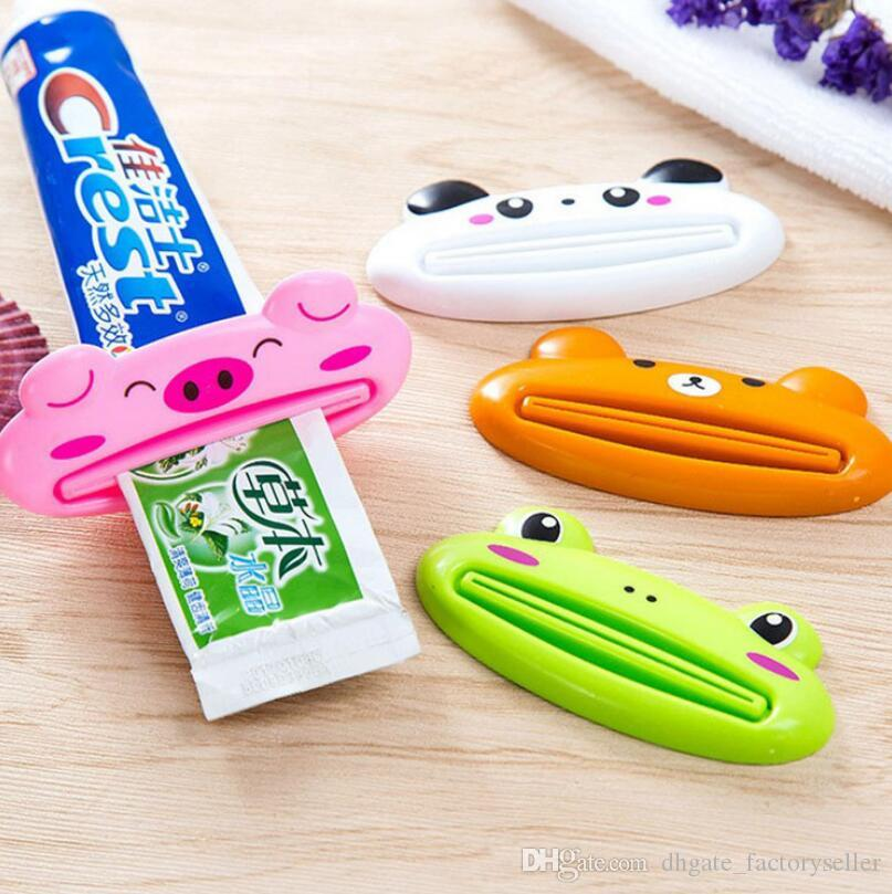 Cute Animal multifunction squeezer / toothpaste squeezer Home Commodity Bathroom Tube Cartoon Toothpaste Dispenser Extruder LX4037