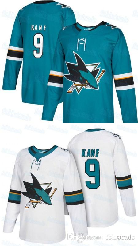 huge selection of 9e2bd d6195 9 Evander Kane San Jose Sharks Jersey 2017-18 Season All Stiched Home Away  Hockey Jerseys For Men Women Youth
