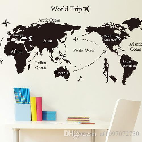 World Map Removable Wall Sticker.Custom Wall Stickers World Map Removable Wall Stickers Warm Home
