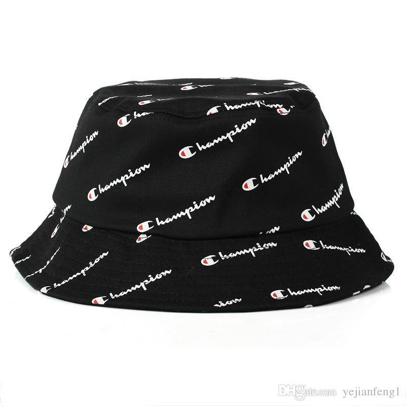af52b9ebeff ... coupon for 2018 hot fashion men women hot champion bucket hat brand  outdoor boonie cap unisex