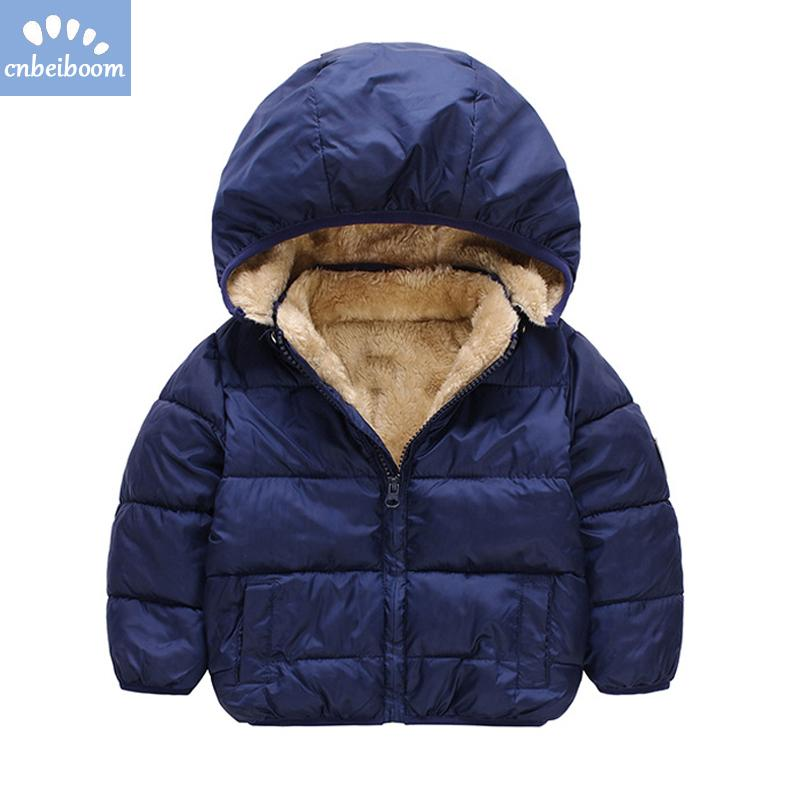 ea5123814bf 2018 Warm Think Coat Children Jackets Parkas Clothes Baby Girl boy Toddler  Winter Hooded Outerwear Cotton/Down Jacket Girls