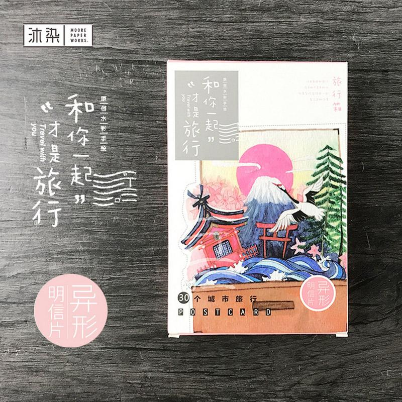 Novelty Heteromorphism Color Japanese Scenery Plant Postcard ...