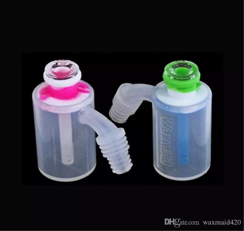 Бонг стеклянный зола улавливатель 6 цветов, пригодный для 14 до 18 мм слайд Waxmaid фабрика оптом DHL бесплатная доставка