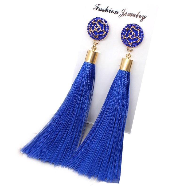 Apparel Accessories Original 2018 Women Weave Tassel Earwear Fashion Design Trendy Handmade Cotton Tassel Accessories For Women Long Fringe Drop Dangle