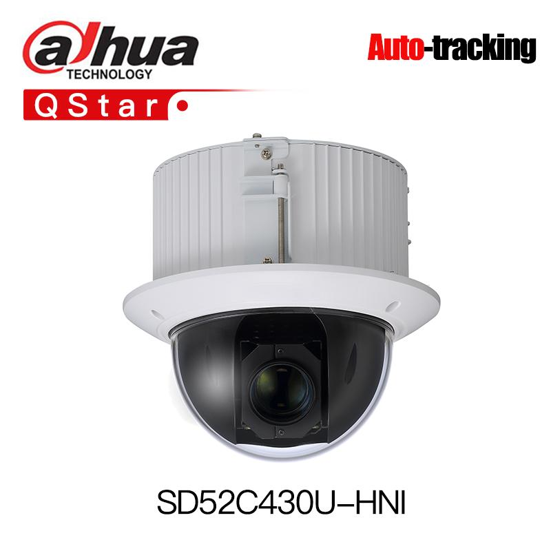 Dahua H 265 Auto-tracking PTZ SD52C430U-HNI 4MP 30x mini PTZ Network Camera  High Speed IP Dome Camera IK10 1080p Smart-tracking