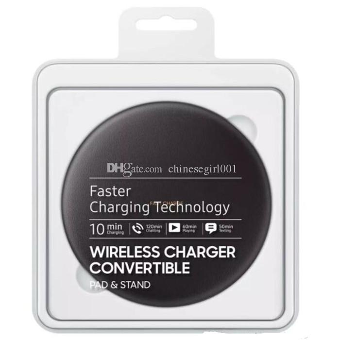 QI Wireless Charger Quick Charging vertical Table Charger for Samsung Galaxy S8 S8 plus with Retail Box Power Wireless Charger