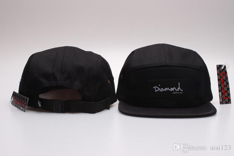 Alta calidad negro Diamond Snapbacks 5 Panel caps Men Hat Barato Snapback Wholeslae gorra de béisbol Equipo deportivo Ajustable Snap Back sombreros Gorras