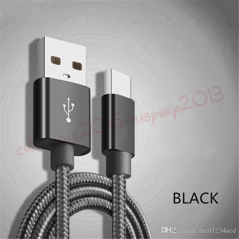 Schnellgeschwindigkeit Schnellladegerät 1m 2m 3M Typ C-Micro-USB-Kabel für Samsung Galaxy S8 S10 HTC Huawei Android-Telefon-PC