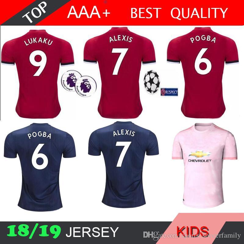 Alexis POGBA Soccer Jerseys 18 19 Football Man Shirt U 2018 2019 ... ee7c74fbf