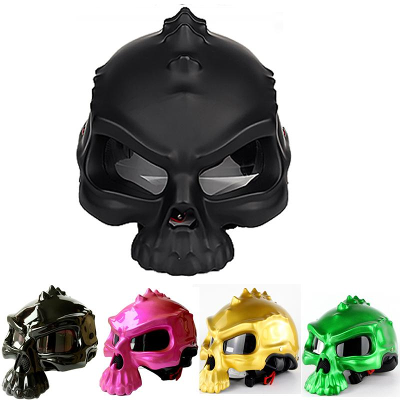 Motorcycle Helmet Helmet for Motorcycle Vintage Style Casco Moto Skull Motocross for Scooter Cruiser Touring Chopper