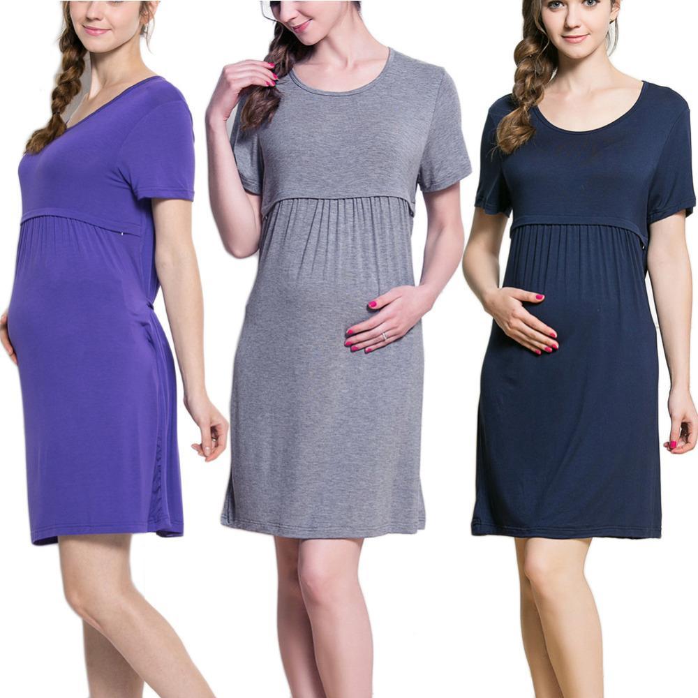 b181dfcf1 Compre Roupa Grávida Verão Maternidade Vestidos De Enfermagem Aleitamento Materno  Vestidos Para Mulheres Grávidas Gravidez Amamentação Roupas De Enfermagem  ...