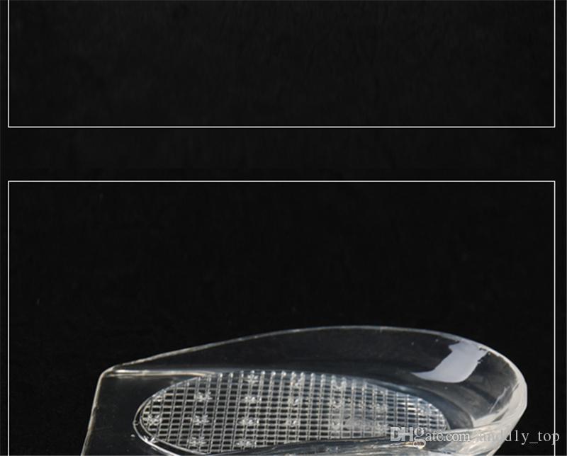 Гель передняя стелька силиконовые пятки колодки половина двор pad пятки подушки шлифовальные ноги амортизирующие ноги сообщение с розничной упаковке