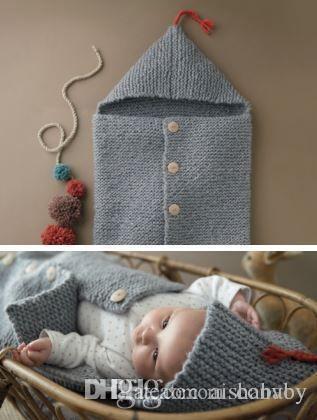 Großhandel Neueste Baby Gestrickte Decken Warme Schlafsack ...