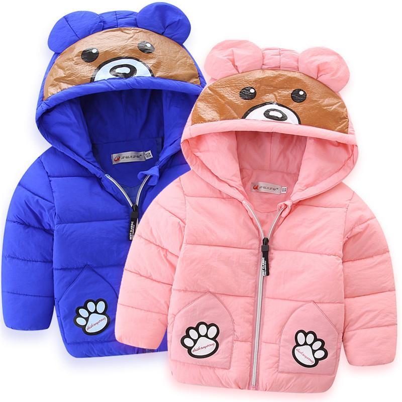 354bda45621c Children Jackets Winter Boys Girls Hooded Outwear Coat Kids Thick ...
