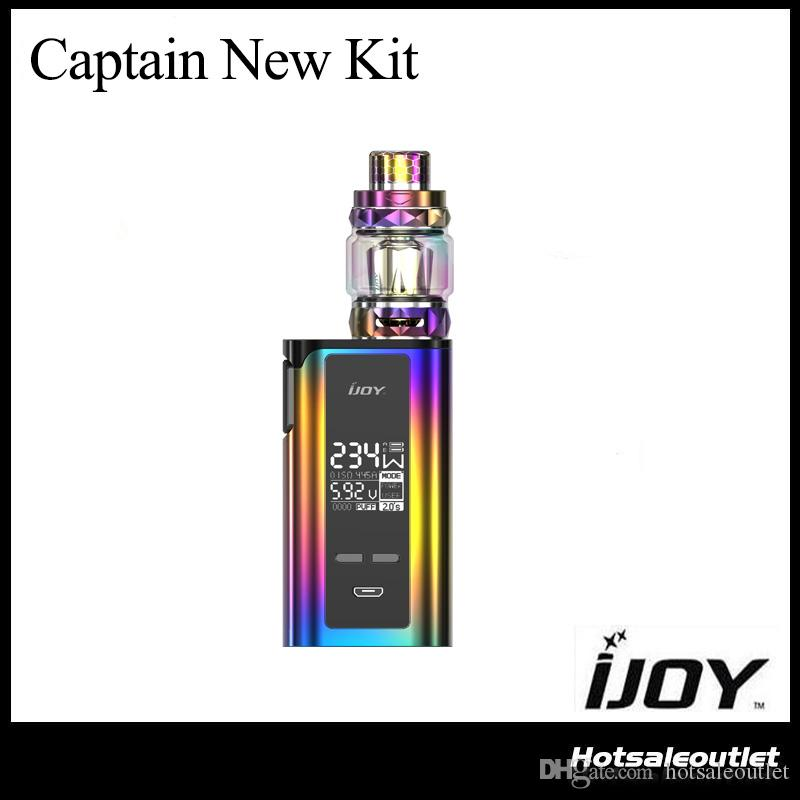 Authentic IJOY CAPTAIN NEW KIT with 234w CAPTAIN NEW BOX MOD 20700 Batteries Included and DIAMOND SUBOHM TANK 100% Original DHL Free