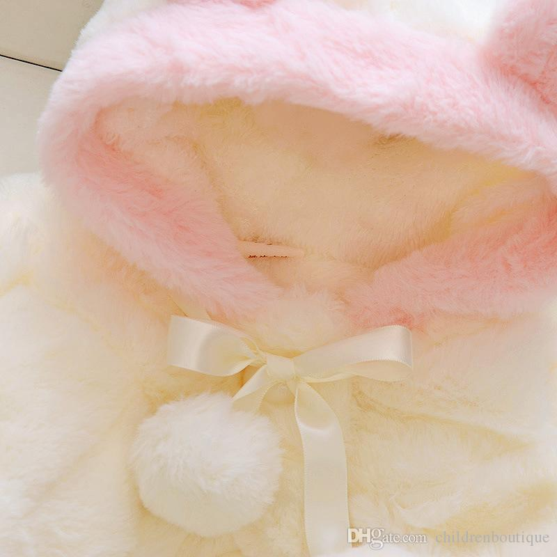 Baby Clothing Infant Kids Fur Winter Warm Coat Jackets Thick Girls Clothes Baby Girl Cute Hooded Long Sleeve Coats Jacket Outwear