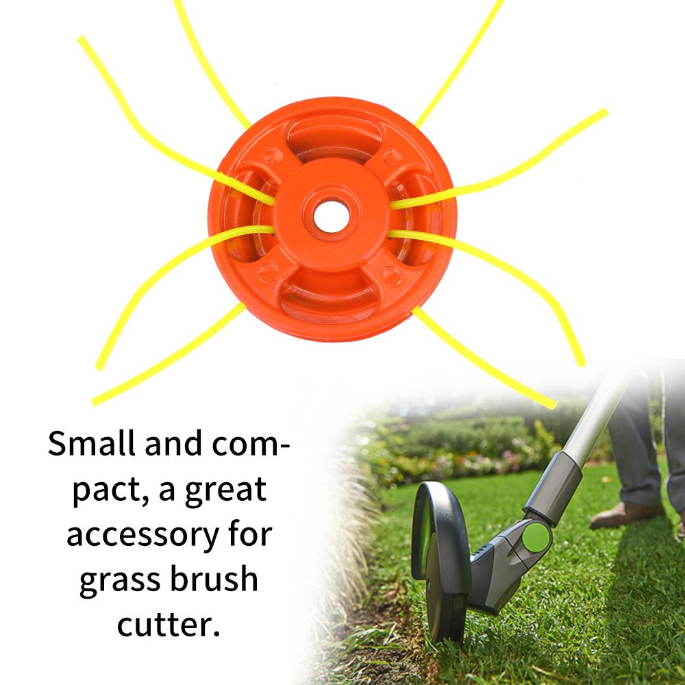 Aluminum Grass Trimmer Head Brush Cutter Tops Strimmer Lawn Mower Accessory with 4 Trimmer Ropes