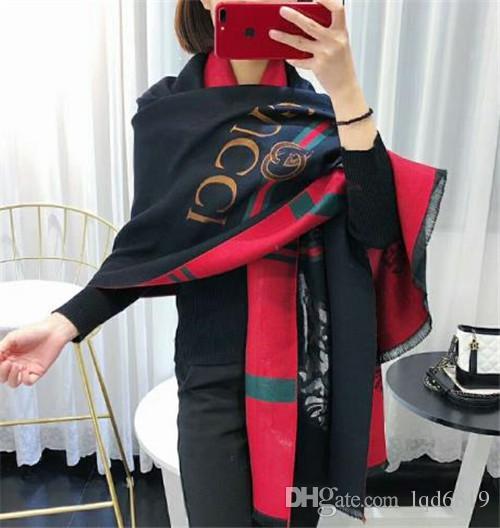 Acheter Italie Top G Design Cat Tête Style D impression Womans De Luxe Hiver  Cachemire Mode Foulard Écharpes Pour Femmes Mens Echarpe En Laine De  Cachemire ... c4edf2e72e7