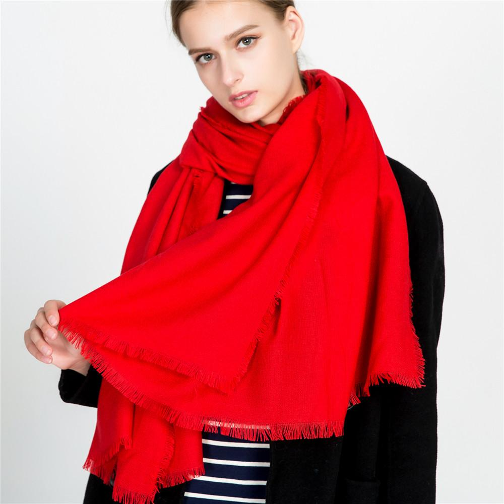 117c9fc7ad8 High Quality Acrylic Fibers Scarf Solid Color Monochrome Candy Colored Silk  Femme Scarf Women Gift Beautiful Scarves Scarves Cheap Scarves High Quality  ...