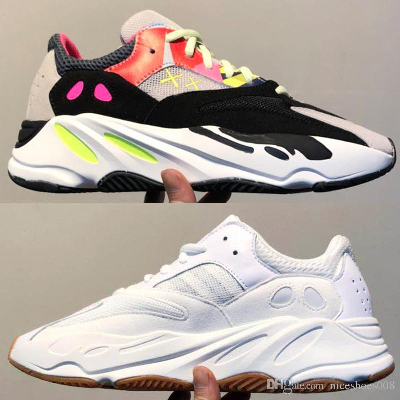 reputable site ab4a2 7fdd1 Adidas Yeezy 700 Shoes Senaker 2018 Mejor Calidad Wave Runner 700 Real  Womens Mens Running Shoes Diseño Por Kanye West Season5 700s Sneakers  Tamaño 36 46 ...
