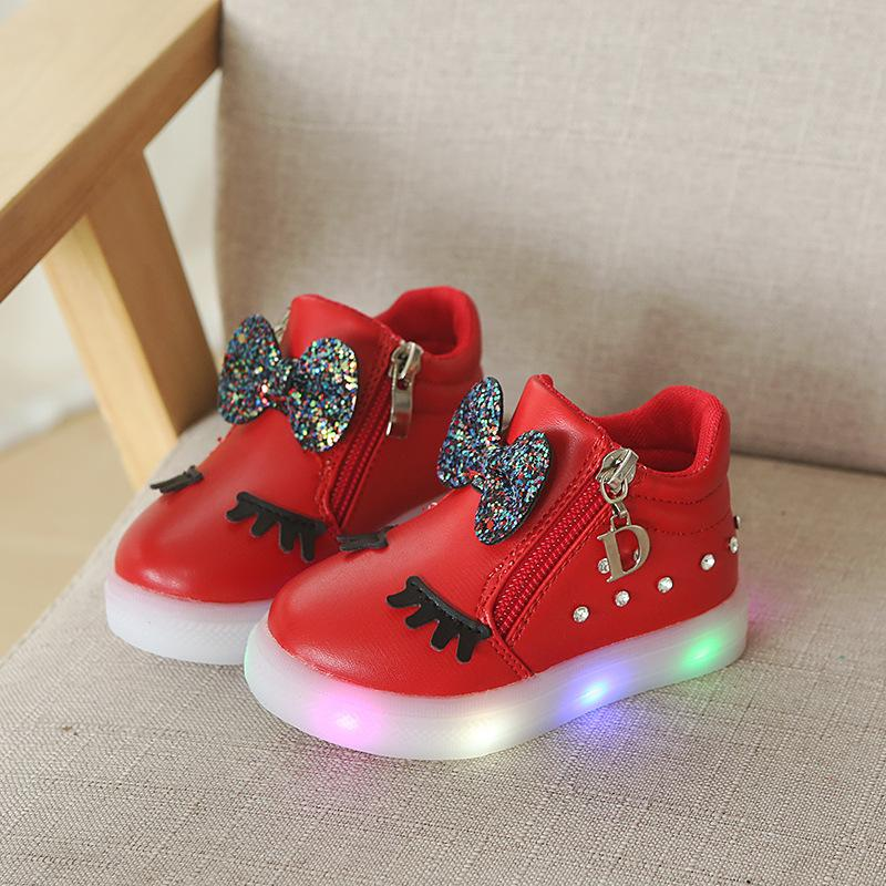 European Spring Autumn Lovely Cute Baby Girls Shoes Solid Cartoon Pu  Butterfly Baby Boots Hook Loop Princess Sneakers Tennis Shoes For Girl  Running Shoes ... 124d608cf