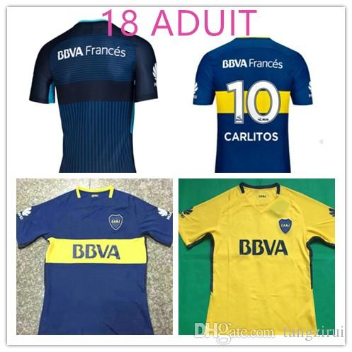 Top Thai Quality 2017 2018 Boca Juniors Soccer Jersey Home Away 3RD ... be754521b926f