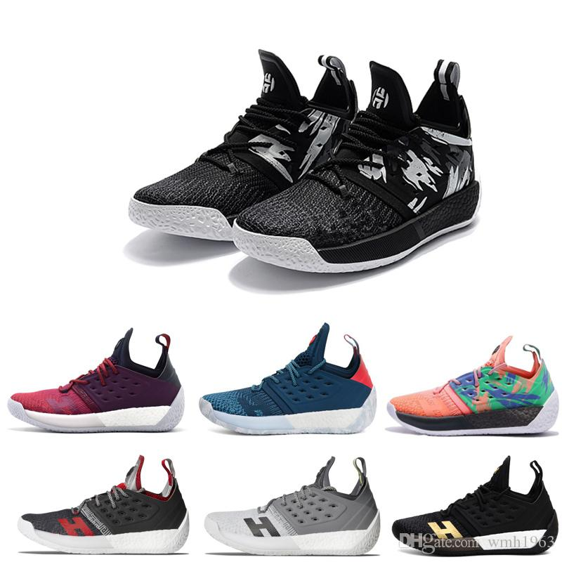 2bac6c3249cb With Box 2019 New Top James Harden 2 Vol Men S Basketball Shoes High  Quality Trainer Sport Sneaker Running Shoes Size 40 46 Basketball Shoes  Shoes Men From ...