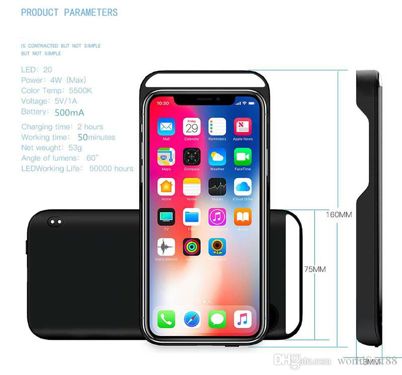 LED Phone Case Luminous Selfie Light Phone Case With Touch Key Press Shockproof Protective Case For iPhone X 8 6S 7 Plus