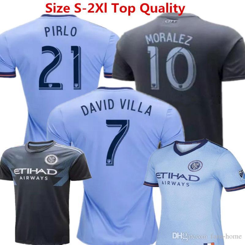 Soccer Jersey New York City FC Camisetas De Futbol 18 19 David Villa ... 998418a3b9c40