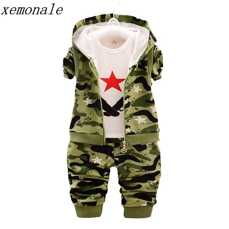 eb84276986bf Children Camouflage Clothes Kids Sport Suit Fashion Brand Autumn ...