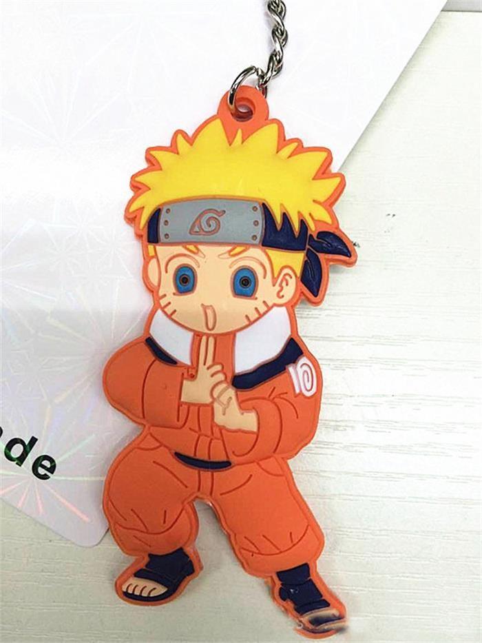 7 Estilo Anime Naruto Llavero Naruto Bolso Colgante Kakashi PVC Suave Plástico Sasuke Llavero V 002