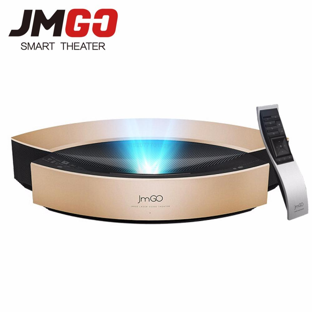 JMGO S1 Pro 4,000 ANSI Lumens Full HD Ultra Short Focal Laser Projector, Android 5, WIFI Bluetooth 4K Projector Free 3D Glasses