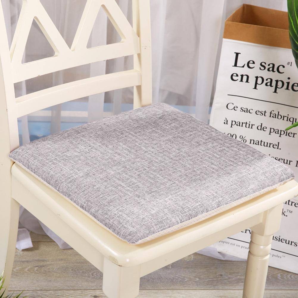5938e4c30bb 50 50cm Non Slip Back Cushions Memory Foam Linen Office Student Soft  Comfort Breathable Bed Backrest Pad Detachable Slow Rebound Outdoor Chair  Cushions On ...
