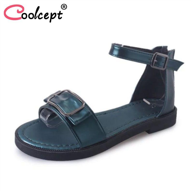b2aae0c886a0 Wholesale Summer Women Flats Shoes Open Toe Metal Decoration Ankle ...